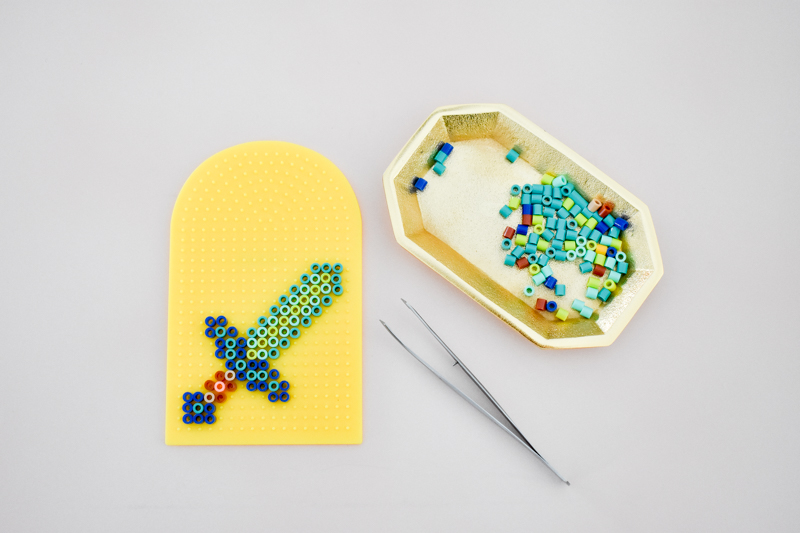 DIY Minecraft Perler Bead Necklace Party Favors