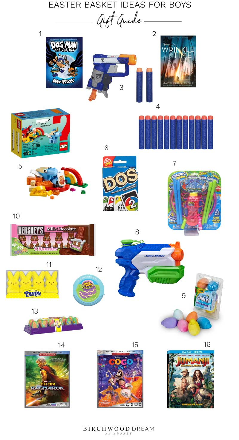 Fun Easter basket gift ideas for boys
