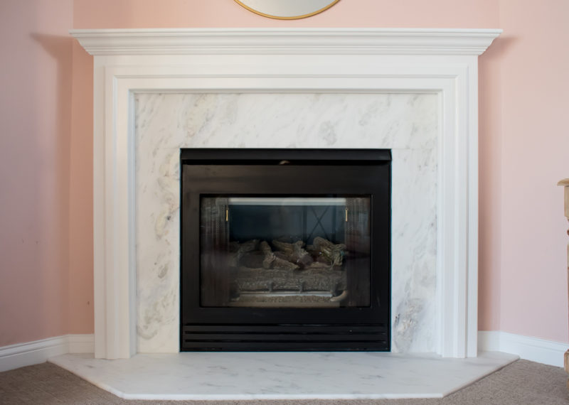 Before and After Marble Fireplace Makeover