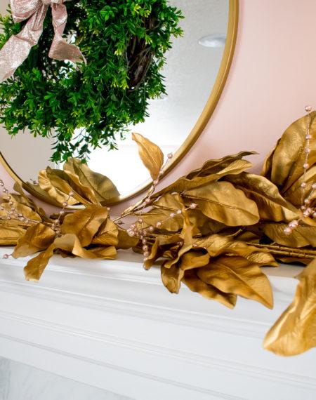 Crate and Barrel Inspired Gold Magnolia Leaf Garland Tutorial
